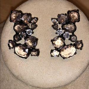J crew earrings bling smoky pierced chunky